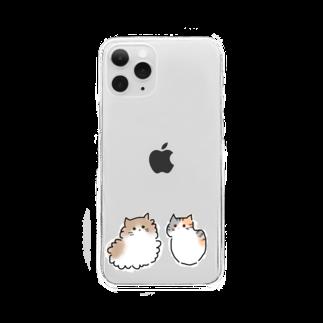 もふもふにゃんずのらむとレイくん Clear smartphone cases