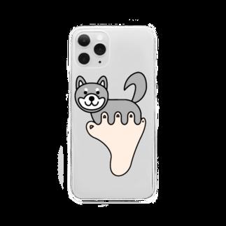 あしゆびふれんずのあしゆびしばいぬ Clear smartphone cases