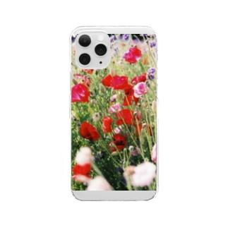 ポピー Clear smartphone cases