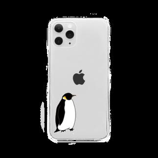 ぴーやまのコウテイペンギン Clear smartphone cases
