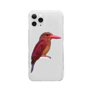 南ぬ楽園「ぱいぬらくえん」のミンサーリュウキュウアカショウビン Clear smartphone cases