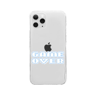 GAMEOVER2 Clear smartphone cases