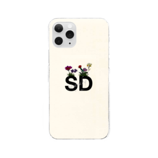 S.DogのSD LOGO flower print Clear smartphone cases