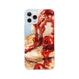 クランベリージャムとパンケーキと Clear smartphone cases