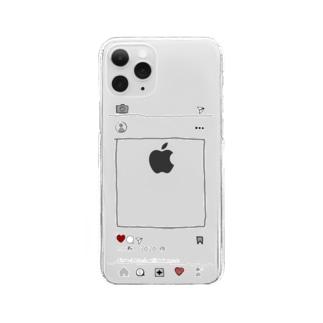 イ〇スタ風 Clear smartphone cases