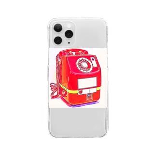 昭和の思い出 『赤電話』 Clear smartphone cases