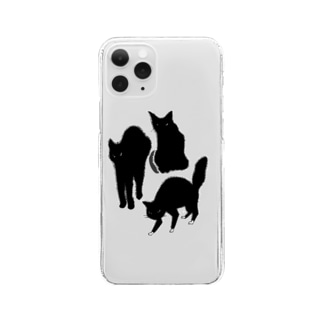 ANGRY CAT Clear smartphone cases