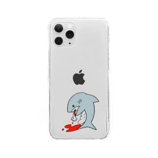 食べすぎサメ Clear smartphone cases