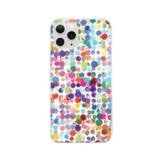 水彩カラフルドット Clear Smartphone Case