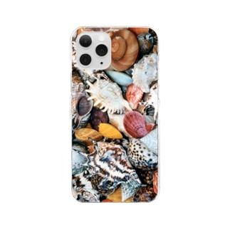 貝殻イロイロ Clear smartphone cases