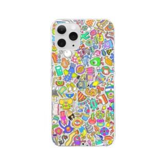 しきつめ怪獣 Clear smartphone cases
