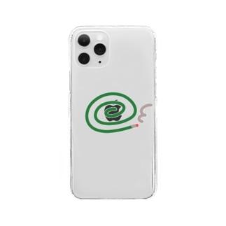 蚊取線香。 Clear smartphone cases