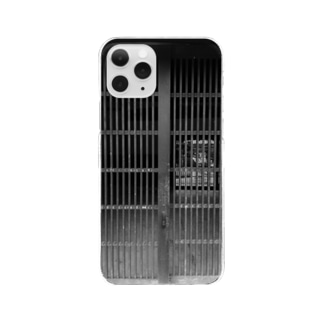 Black White Streets Clear smartphone cases