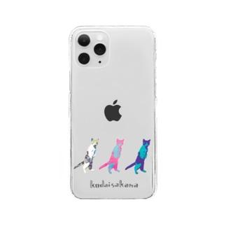 ねっこ ロゴ入 Clear smartphone cases