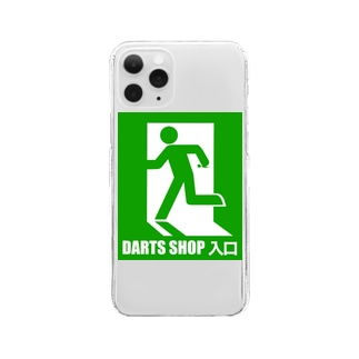 SWEET&SPICY 【すいすぱ】のDARTS SHOP 入口 Clear smartphone cases