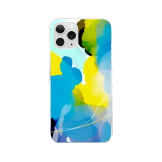 海クラゲ Clear smartphone cases
