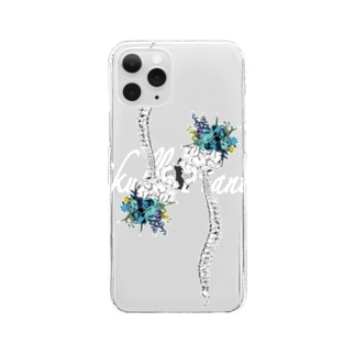 「Skull×plant」 Clear Smartphone Case