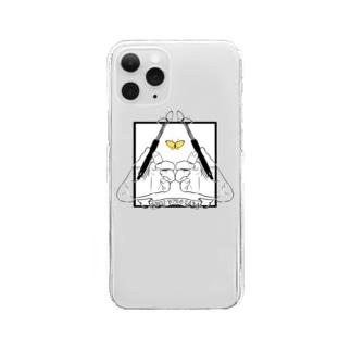 先端をありがとう蝶々 Clear smartphone cases