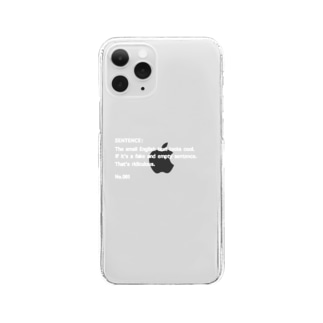 SENTENCE  No.001 Clear smartphone cases