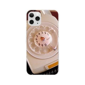 ダイヤル白でんわ Clear smartphone cases