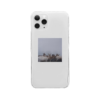 Fog and deer Ⅰ Clear smartphone cases