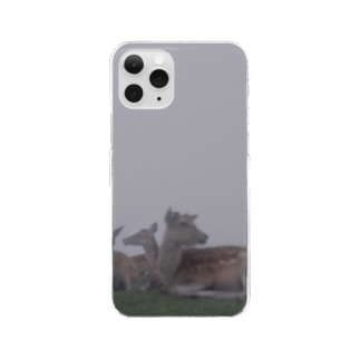 Fog and deer II Clear smartphone cases
