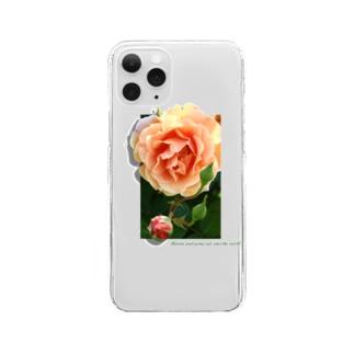 咲き誇れ(オレンジ) Clear Smartphone Case