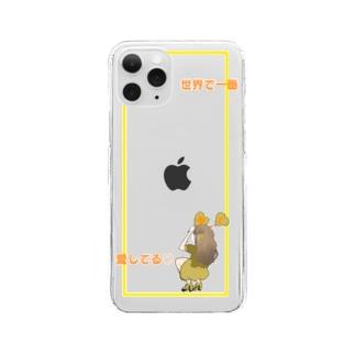推し活(黄色) Clear smartphone cases