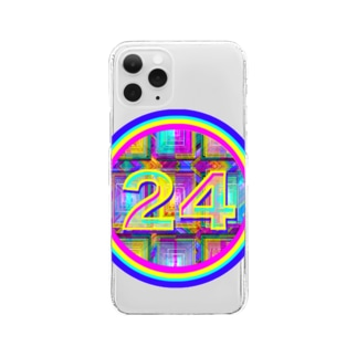 🌈happy lucky No.24🌈 Clear smartphone cases