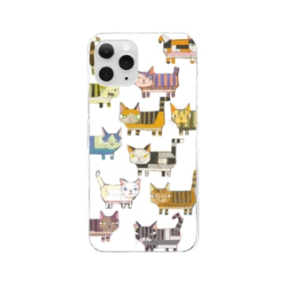 猫ブロック Clear Smartphone Case