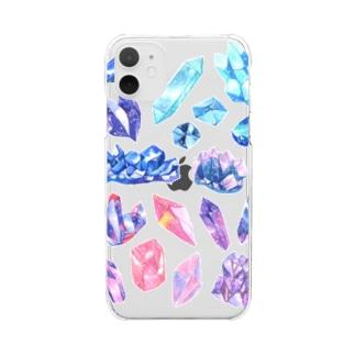宇宙鉱物のコレクション Clear smartphone cases