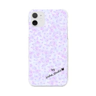 Rose pattern (Elegant) Clear smartphone cases