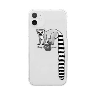 すとろべりーガムFactoryのワオキツネザル Clear smartphone cases