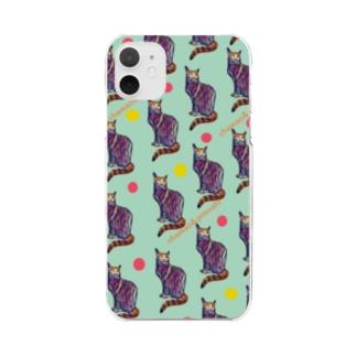 chamao&pimushiの【ねこ】ねこ好きさんへ No.2 Clear smartphone cases