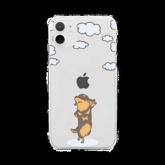 真希ナルセ(マキナル)の雲とダックス(ブラタン) Clear smartphone cases