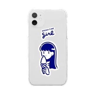ブレイクタイム ガ〜ル Clear smartphone cases
