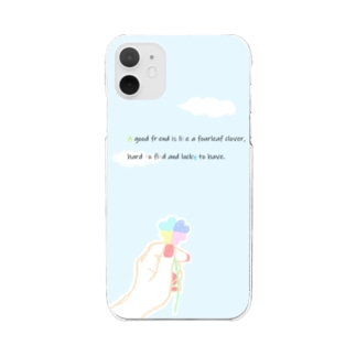 四葉のクローバー Clear smartphone cases