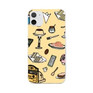 気ままに創作 よろず堂の純喫茶 いろどり 背景つき Clear smartphone cases
