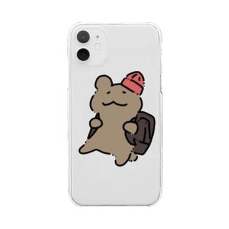 くまヒコ(リュック) Clear smartphone cases