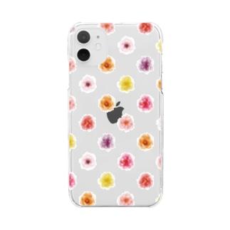 春のお花 Clear smartphone cases