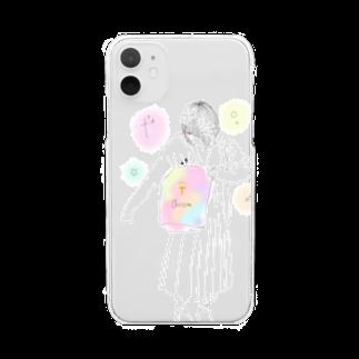 ich(いち)@クリスチャンYouTuberのクリスチャンな女の子 Clear smartphone cases