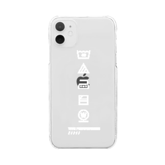 #wash_tag 【11size】 Clear smartphone cases
