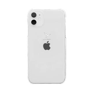 白い鳥 Clear smartphone cases