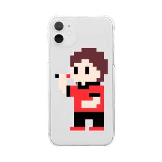 ダーツまろさん(ドット) Clear smartphone cases