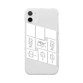 へらやのPAO(kami) Clear smartphone cases