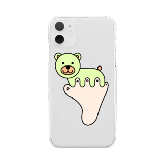 あしゆびふれんずのあしゆびくま Clear smartphone cases