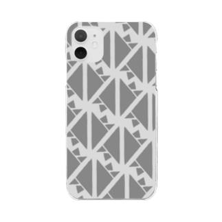サーヴィエ行進曲 燻銀 Clear smartphone cases