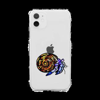紙切 ちぎりのyado-kari Clear smartphone cases