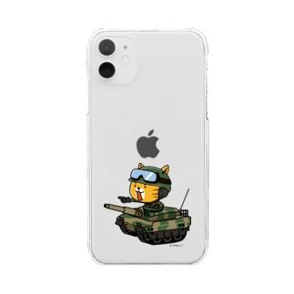 ネコマル式戦車 Clear smartphone cases