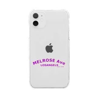 MELROSE Ave LOSANGELS  Clear smartphone cases